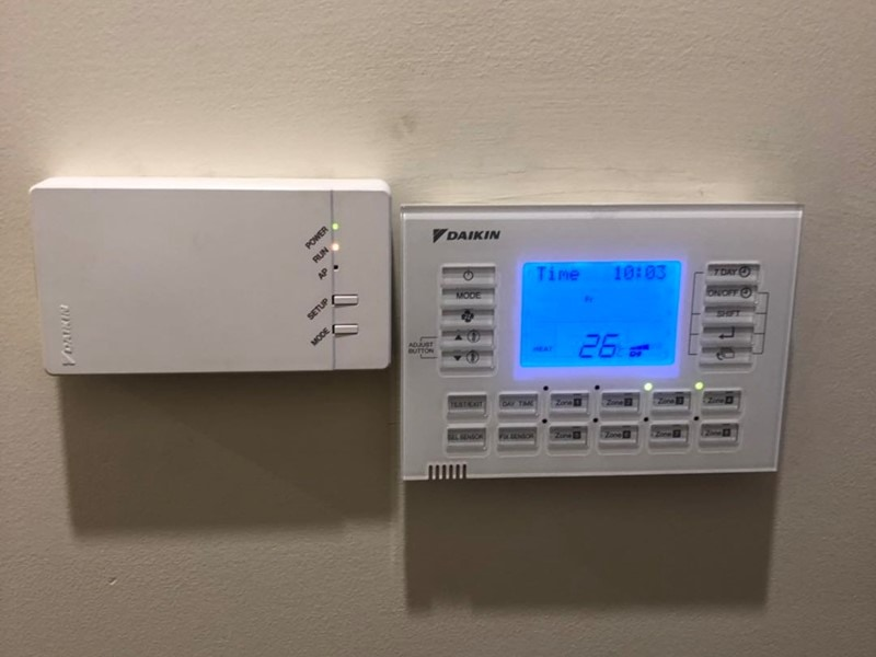 daikin ducted air conditioning controller