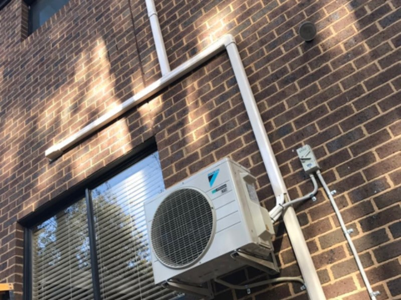 Daikin on wall bracket