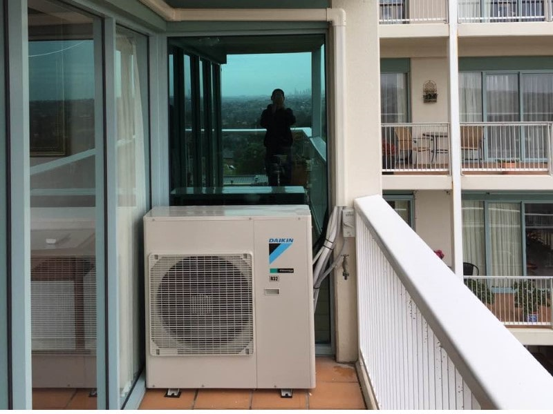 Daikin on balcony
