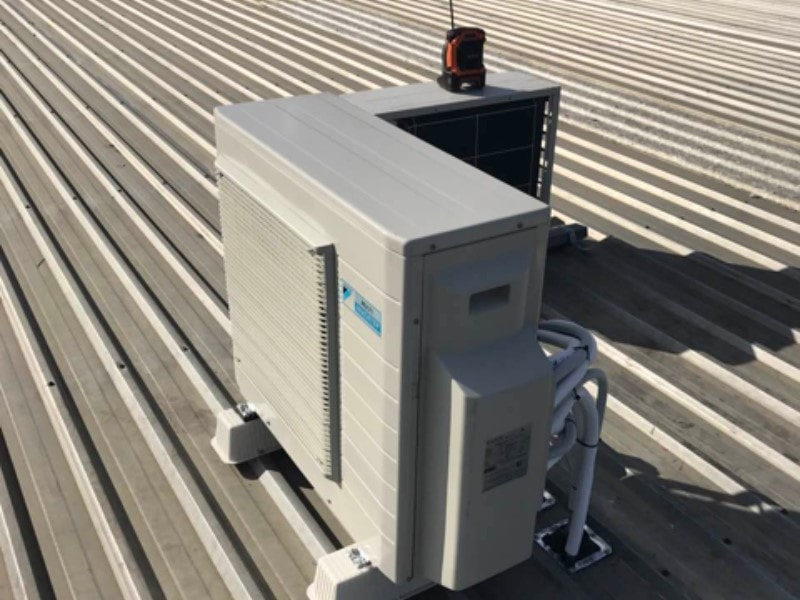 Condenser On Roof