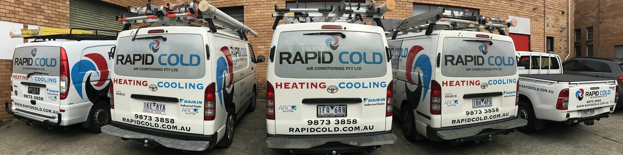 rapid cold air conditioning vehicles